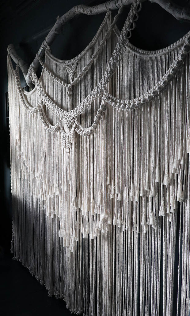 giant macrame wall hanging - room divider - Ellis