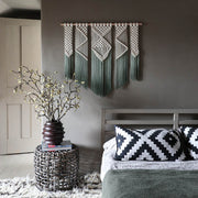 Ombre Green Macrame Wall Hanging