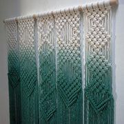 Green Large Boho Macrame Wall Hanging - Oltina Long