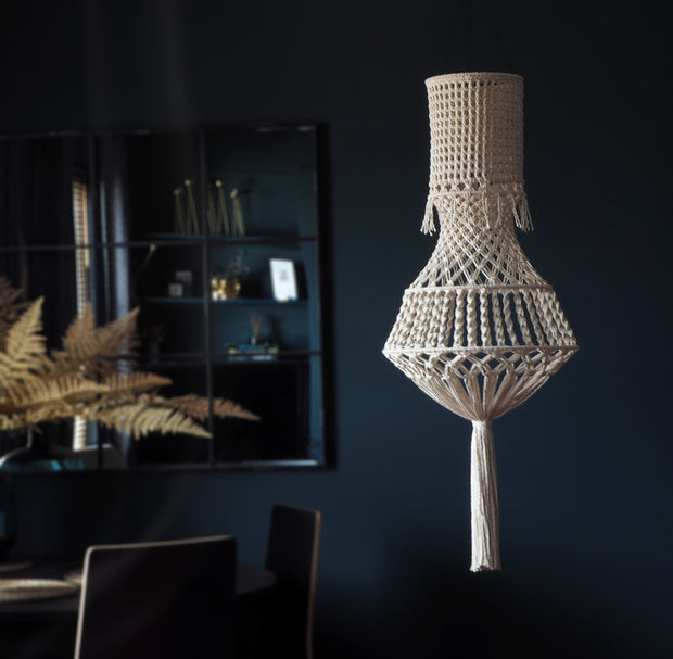 Boho Light Shade - Macrame Chandelier Light – Girota