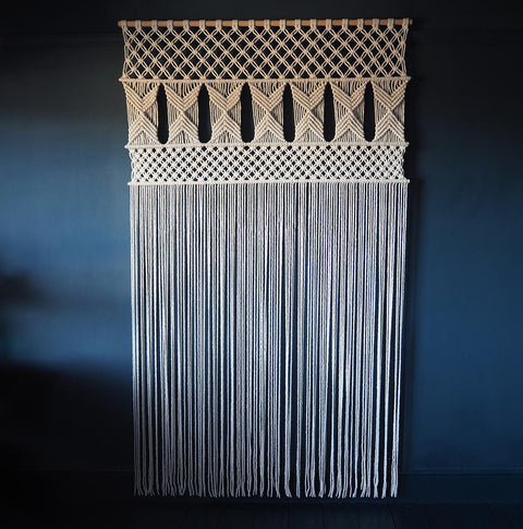 Large Macrame Room Divider/Curtain UK - Opela