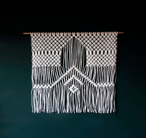 White Large Macrame Wall Hanging – Rosie