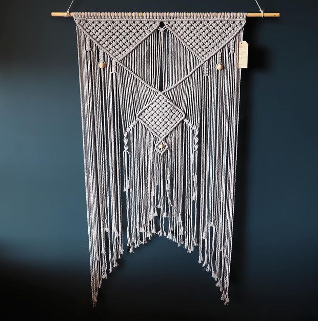 Grey Macrame Wall Hanging - Lepron