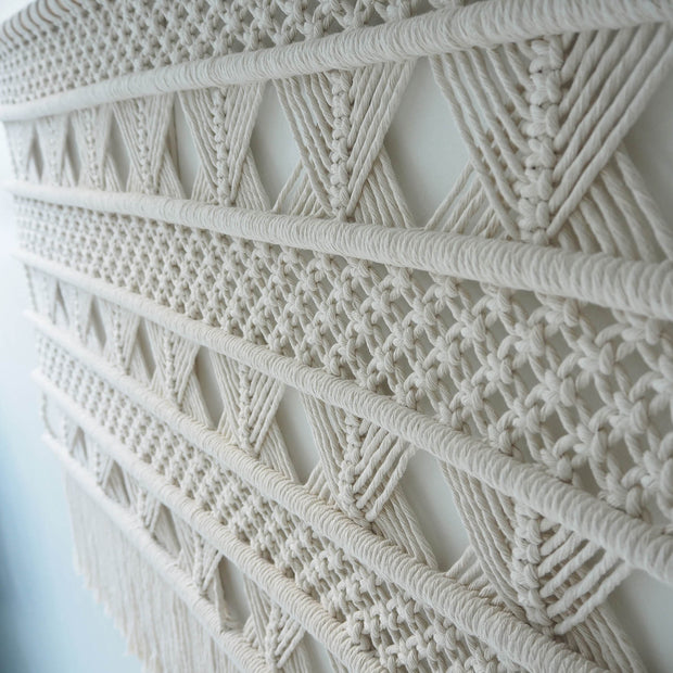 boho macrame wall hanging timano - the knotted touch uk