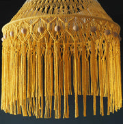 Boho Macrame Lamp Shade  – Yellow