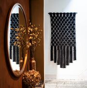 large black wall hanging Sino fiber art uk