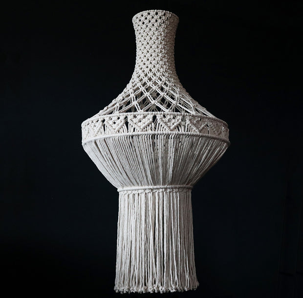 Boho Macrame Chandelier/Light Shade – Lisbona Natural