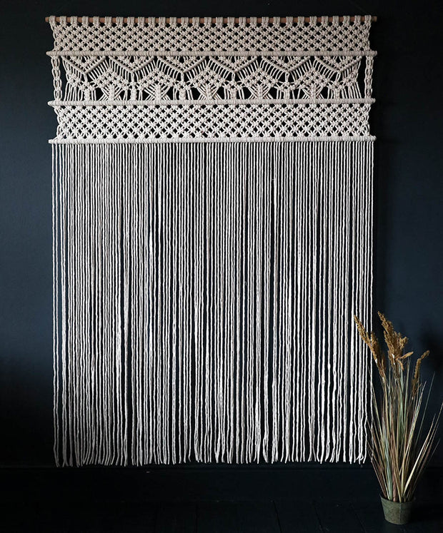Copy of Large Macrame Wall Hanging/Room Divider – Curtain-Nevia