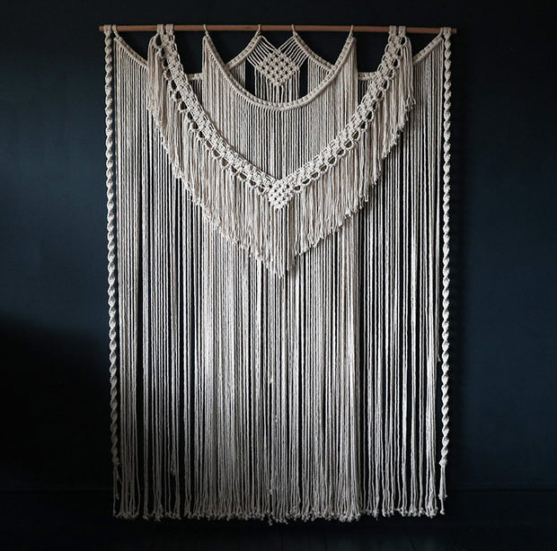 Large Macrame Wall Hanging/Room Divider – Seville UK