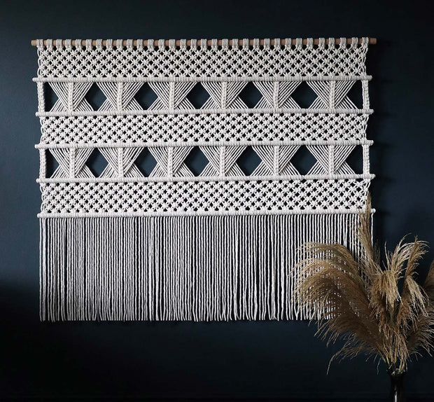 large macrame wall hanging dumino