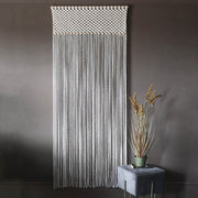 boho macrame curtain room divider fresco