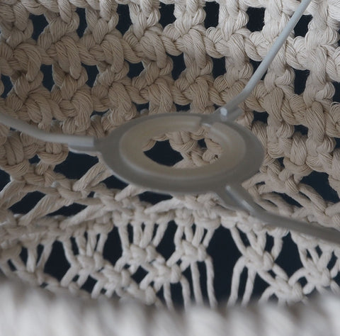 Boho Macrame Lamp Shade Natural Crista - Large