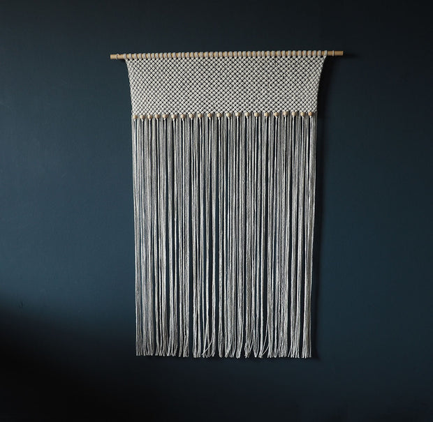 Macrame Curtain – Large Wall Hanging With Beads
