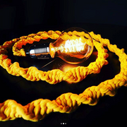 Macrame Rope Pendant Light – Yellow