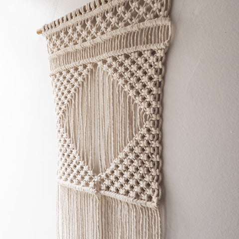 Macrame Wall Hanging, Natural/Cream – Liona Square