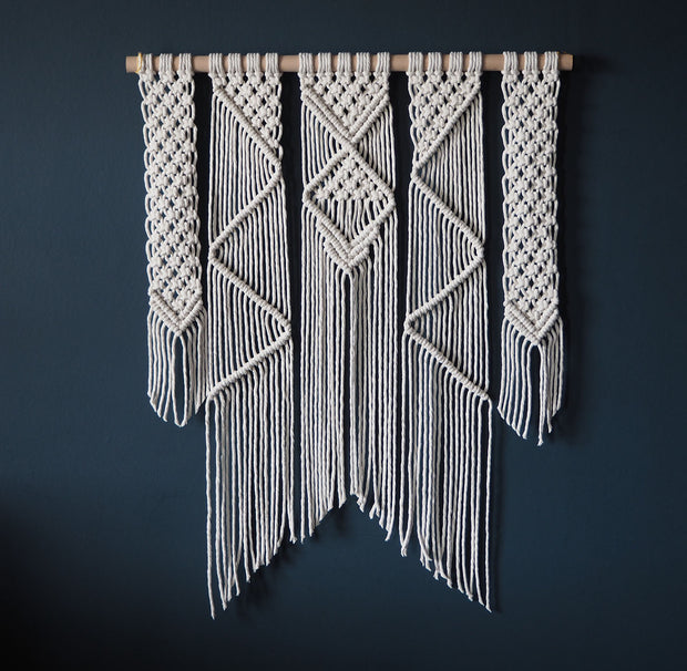 Macrame Wall Hanging, Natural, Presta 70x90cm