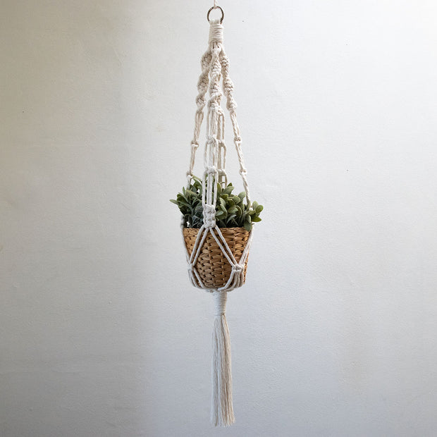Macrame Plant Hanger - Natural Cream Colour