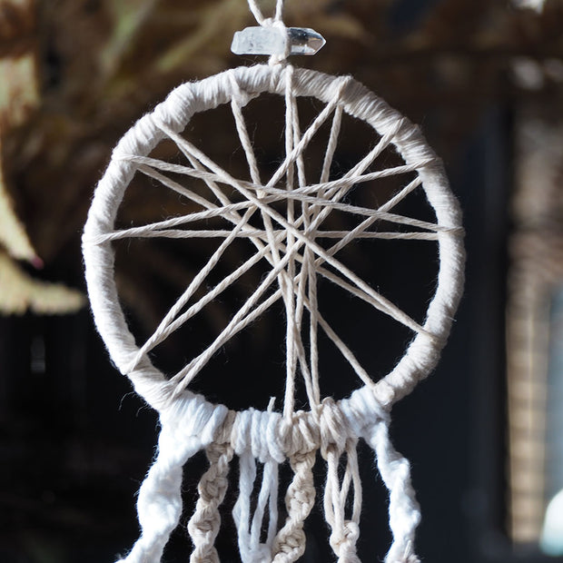Mini Macrame Dream Catcher - Rustic