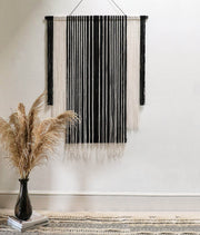 monochrome fabric wall hanging stralo - black and white