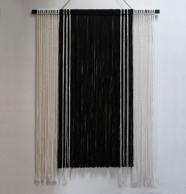 Black and White Monochrome Wall Hanging - Topa