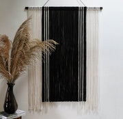 black and white wall hanging topa - monochrome fabric wall hangings
