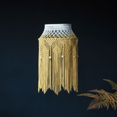 Quirky Boho Mustard Yellow Lampshade – Crista