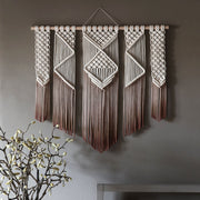 Ombre Brown Macrame Wall Hanging Presta Large