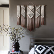 Ombre Brown Macrame Wall Hanging Presta