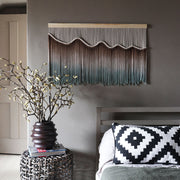 brown green ombre wall hanging kella - theknottedtouch - earthy wall hanging