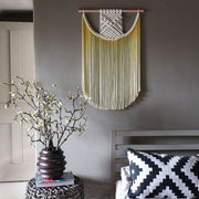 yellow ombre dip dyed macrame wall hanging - the knotted touch