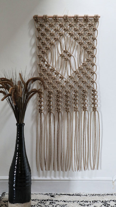 macrame wall hanging for garden