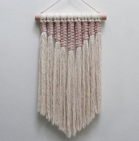 Macrame Wall Hanging – Osby Pink