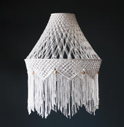Boho Lamp Light Shade – Miliano white