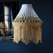 Boho Lampshade Ceiling Light – Miliano Mustard Yellow