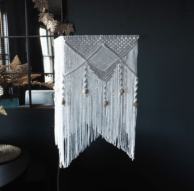 Boho Lampshade Light – Kitoma – White