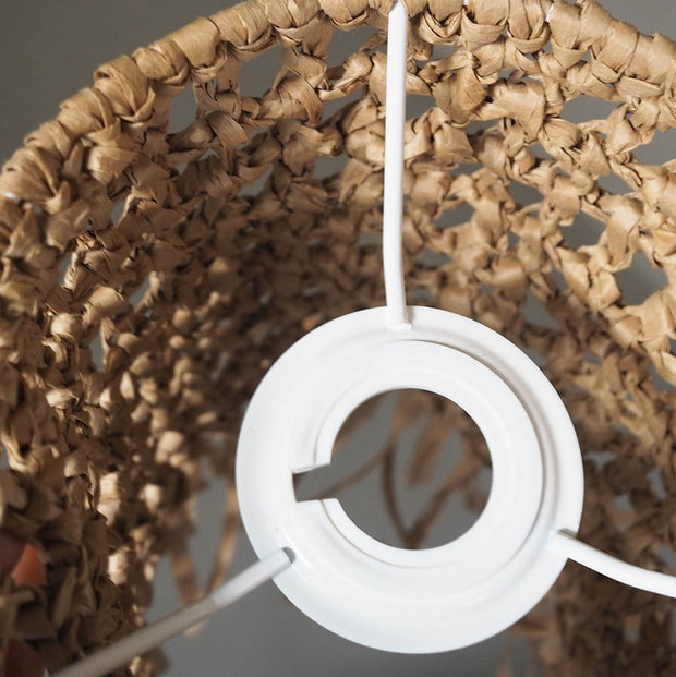 Boho Raffia Light Shade - Komba 15cm
