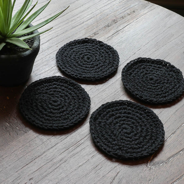 Boho Coasters – Set of 4 - Kona Natural