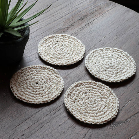 Boho Coasters – Set of 4 - Kona Black