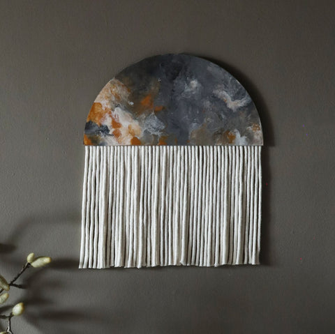 Abstract Round Wall Hanging - Dena Small