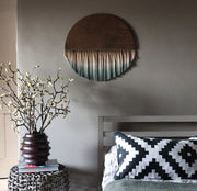 Round Earthy Boho Wall Hanging - Rona - Earth Tones