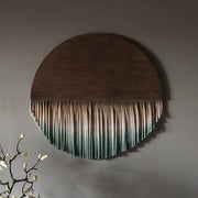 earth tones wall hanging - round