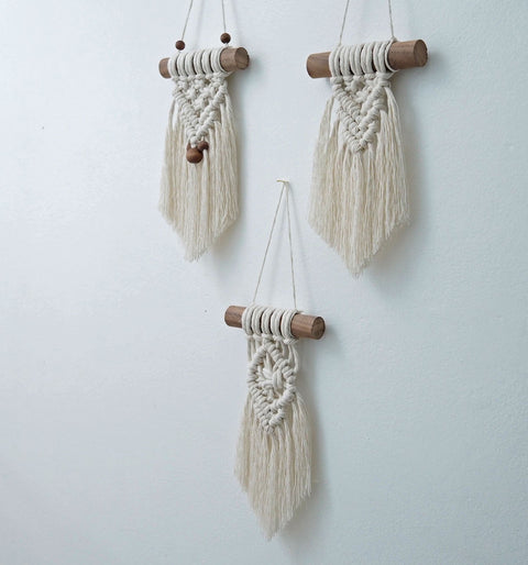 small macrame wall hangings