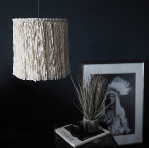Tassel Light Shade 20cm – Pula No Beads