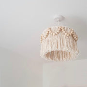 tassel light shade with beads - pula beaded 30cm