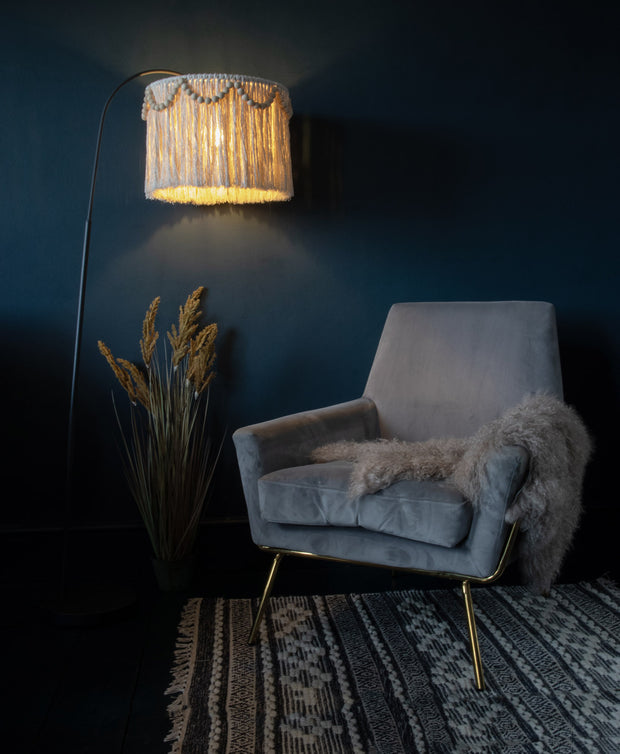 fringed tassel light shade pula - boho lighting uk