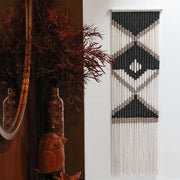 tribal boho wall hanging - fiber art uk - paulo - theknottedtouch