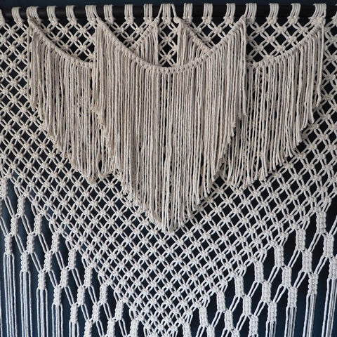 Wide Large Macrame Wall Hanging – Filorina Short - The Knotted Touch UK