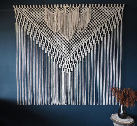 Wide Macrame Wall Hanging – Filorina Short
