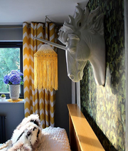 boho lampshade yellow gabriela uk