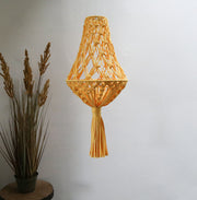 yellow boho light shade - quirky ceiling  lampshade